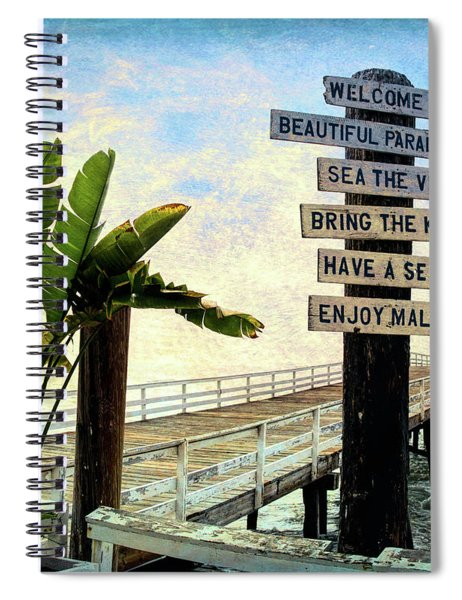 Paradise Cove Sign Spiral Notebook