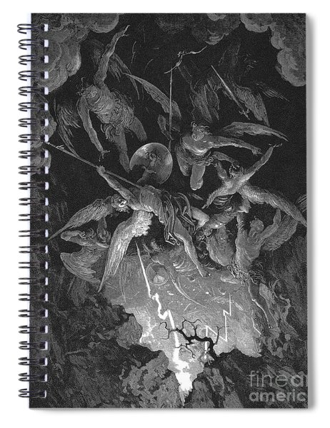 Paradise Lost  The Fall Of Man Spiral Notebook