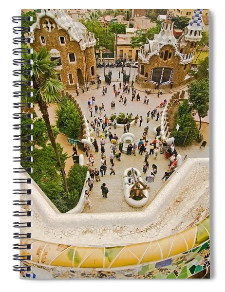 Parc Guell In Barcelona Spiral Notebook