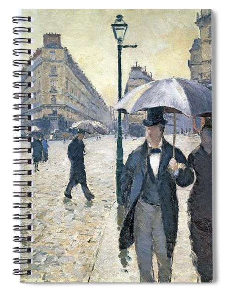 Paris A Rainy Day Spiral Notebook