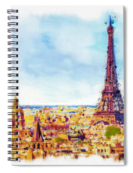 Paris Aerial View Spiral Notebook