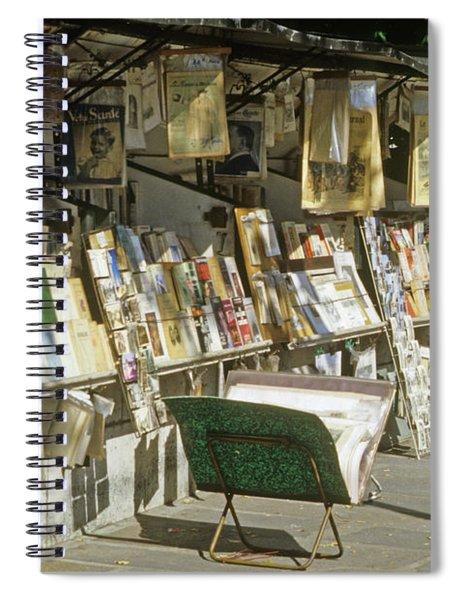 Paris Bookseller Stall Spiral Notebook