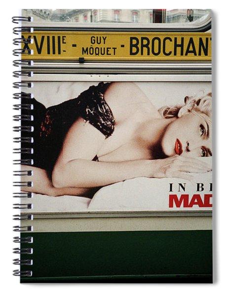 Paris Bus Spiral Notebook
