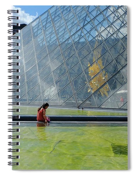 Paris Glass Pyramid Spiral Notebook