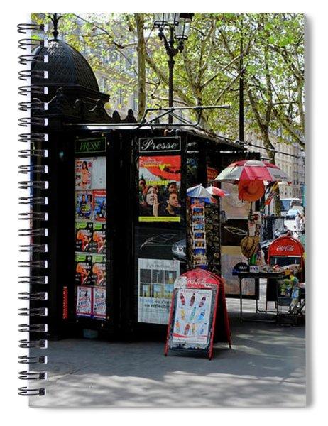 Paris Kiosk Spiral Notebook