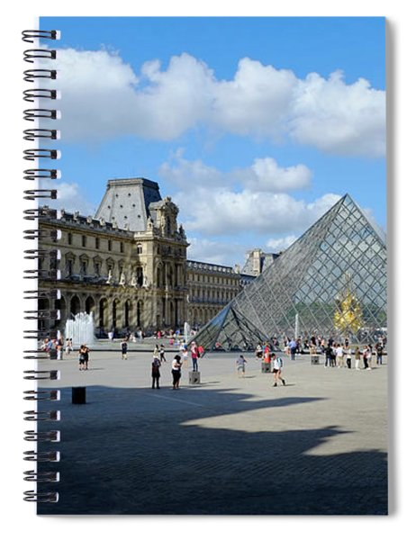 Paris Louvre And Pyramid Spiral Notebook