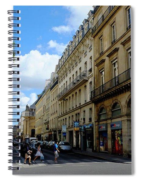Paris Pedestrians Spiral Notebook