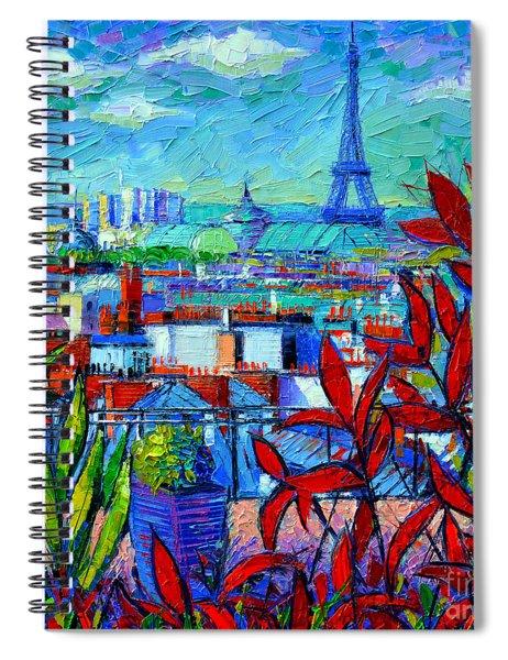Paris Rooftops - View From Printemps Terrace   Spiral Notebook