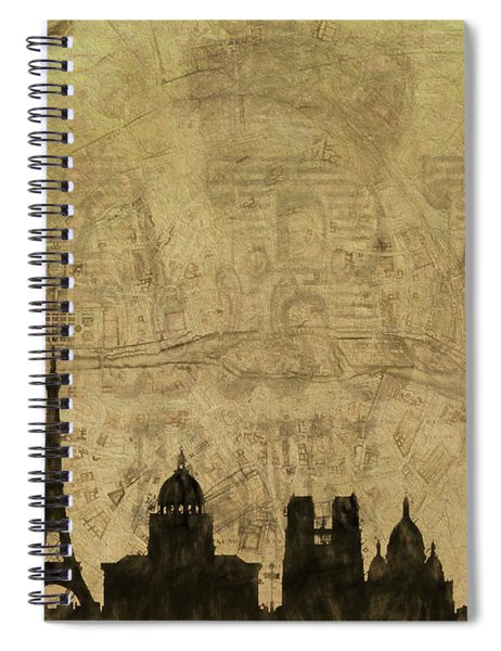 Paris Skyline Postcard Spiral Notebook