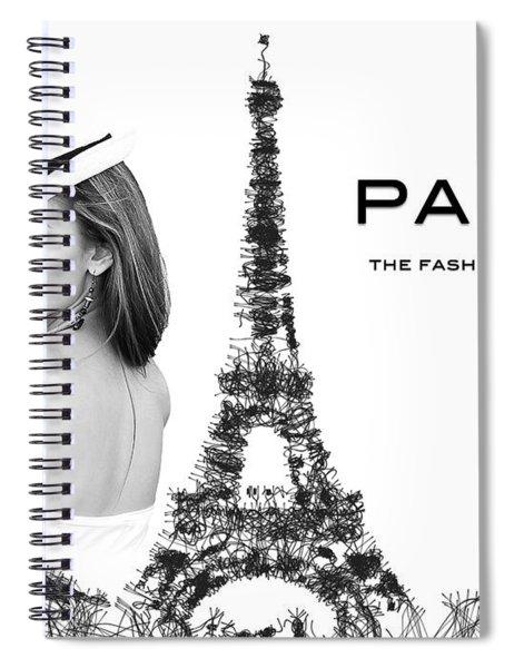 Paris The Fashion Capital Spiral Notebook