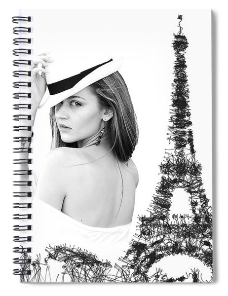 Spiral Notebook featuring the digital art Paris The Fashion Capital by ISAW Company