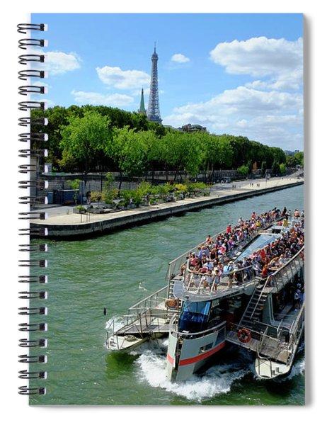 Paris Tourist Flow Spiral Notebook