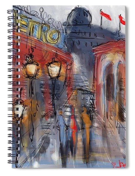 Parisian Street Spiral Notebook