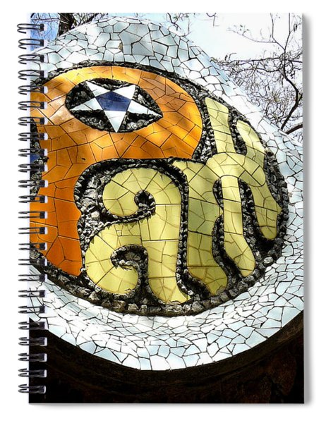 Park Letters In Collage Spiral Notebook