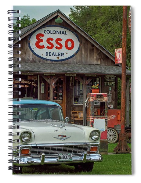 Parked At Ferland Motor Company Spiral Notebook