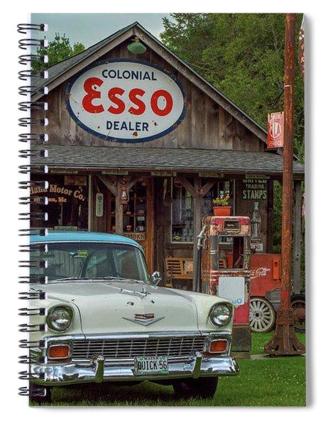 Parked At Ferland Motor Company Spiral Notebook