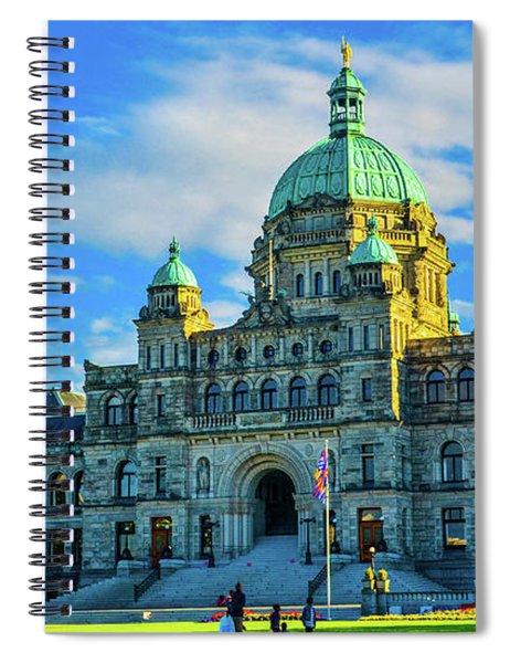 Parliament Victoria Bc Spiral Notebook