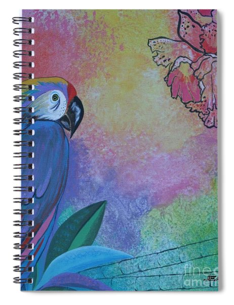 Parrot In Paradise Spiral Notebook
