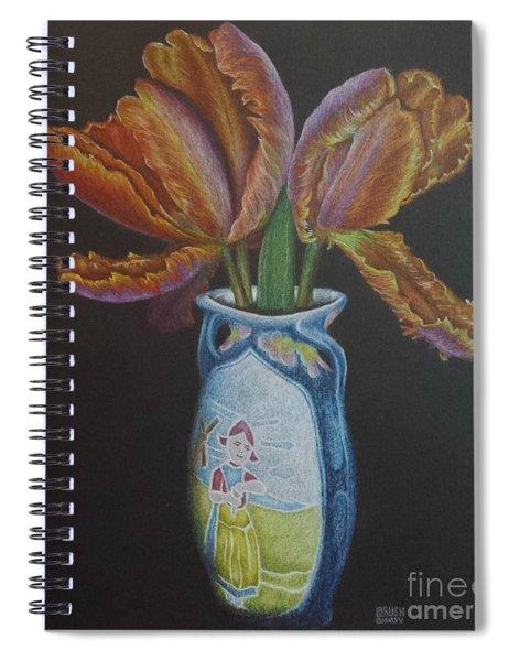 Parrot Tulips Spiral Notebook