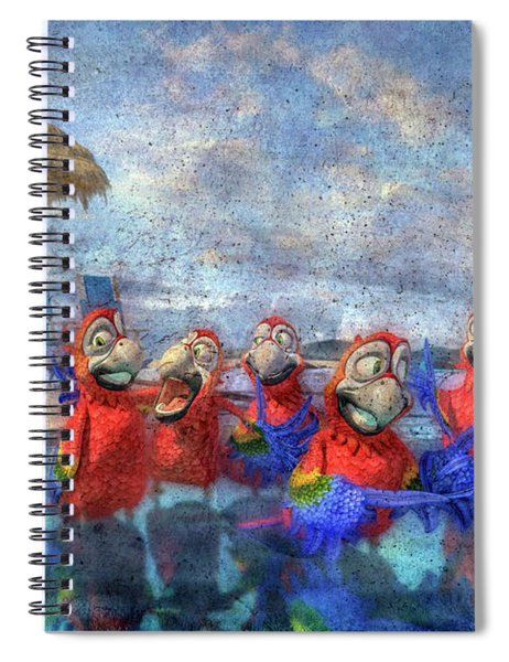 Parrots In Paradise Spiral Notebook
