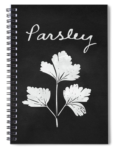 Parsley Black And White- Art By Linda Woods Spiral Notebook