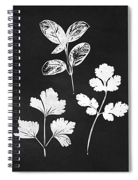 Parsley Cilantro Basil Leaves- Art By Linda Woods Spiral Notebook