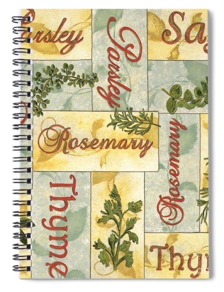 Parsley Collage Spiral Notebook