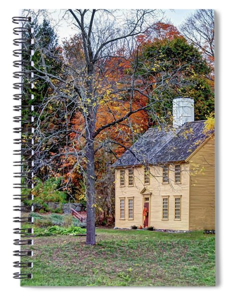 Parson Barnard House In Autumn Spiral Notebook