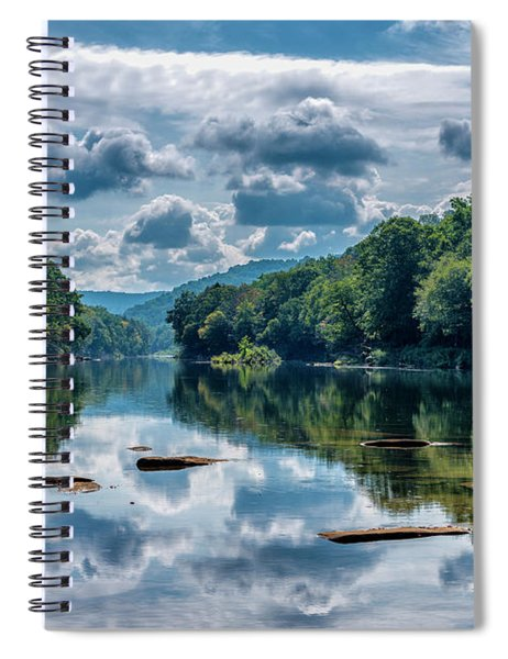 Partially Cloudy Gauley River Spiral Notebook