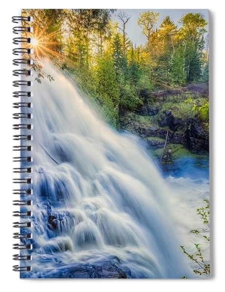 Partridge Falls In Late Afternoon Spiral Notebook