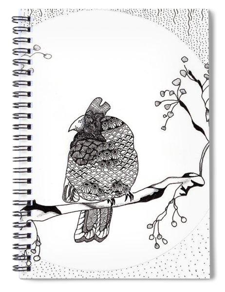 Party Time In Birdville Spiral Notebook