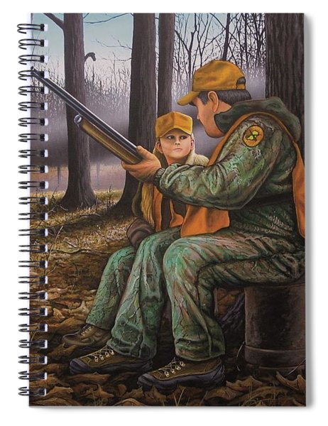 Pass It On - Hunting Spiral Notebook