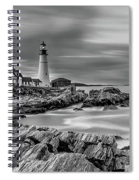 Passing Storm At Portland Head Light Spiral Notebook
