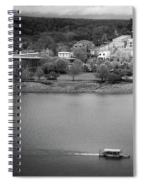 Passing Storm In Chattanooga Black And White Spiral Notebook