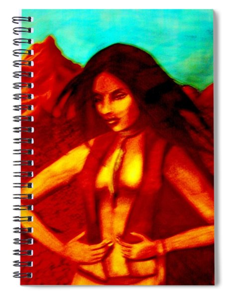 Passion In The Desert Spiral Notebook