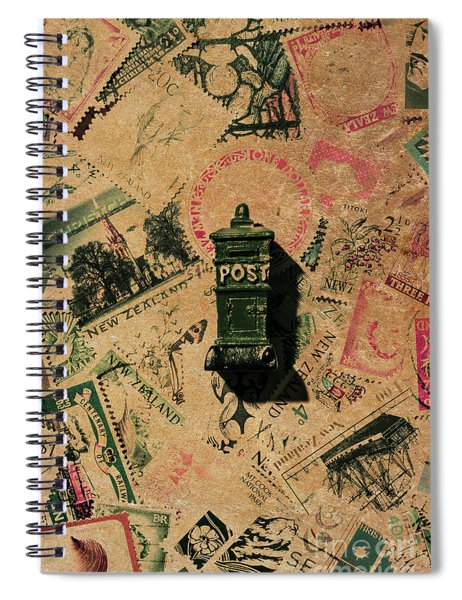 Past Letters In Post Spiral Notebook