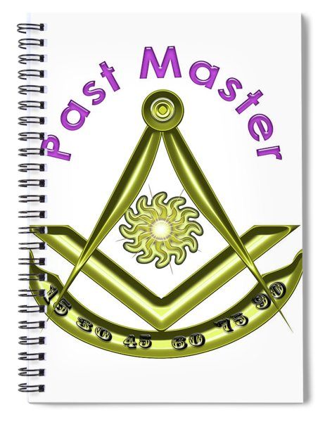 Past Master In White Spiral Notebook