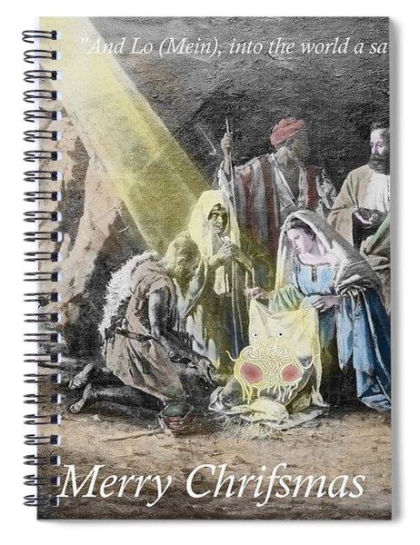 Pastafarian Merry Chrifsmas Scene Spiral Notebook