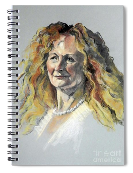 Pastel Portrait Of Woman With Frizzy Hair Spiral Notebook