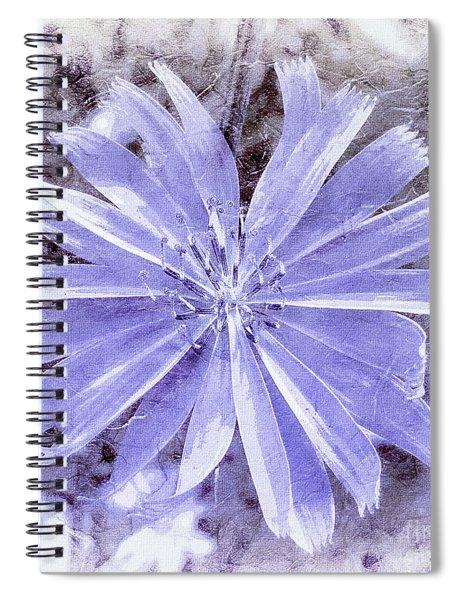 Purple Blue Daisy Spiral Notebook