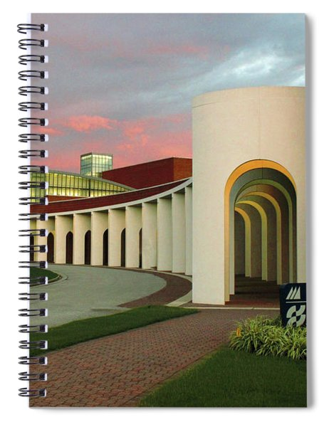 Pastel Skies Above The Ferguson Center For The Arts Spiral Notebook