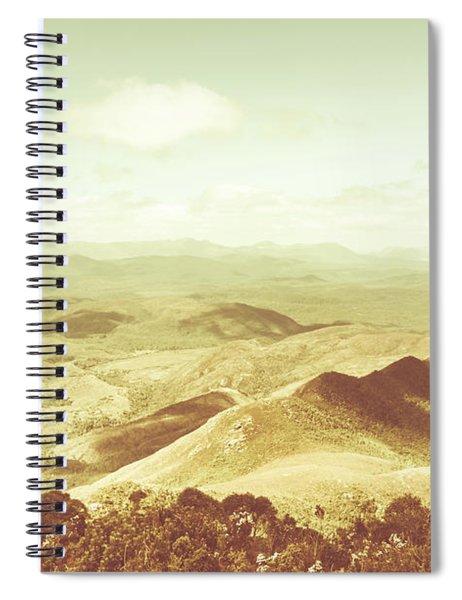 Pastel Tone Mountains Spiral Notebook
