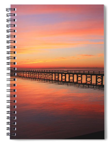 Pastels At The Hilton Fishing Pier  Spiral Notebook