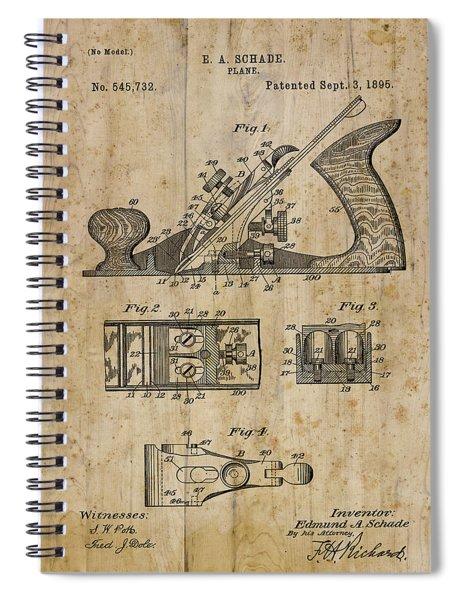 Patent Art Plane 1895 Spiral Notebook