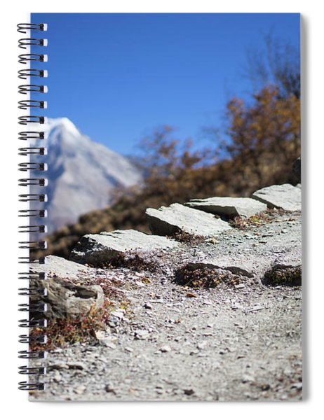 Path And Peak In The Himalaya Mountains, Annapurna Region, Nepal Spiral Notebook