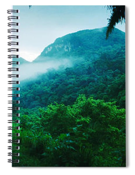 Path In A Rainforest, Cayo District Spiral Notebook