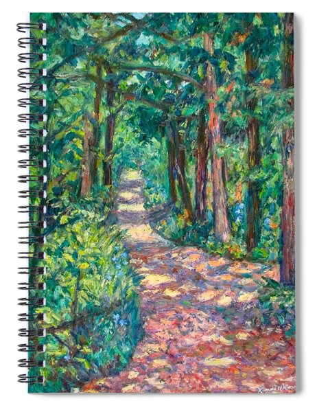 Path On Sharp Top Spiral Notebook