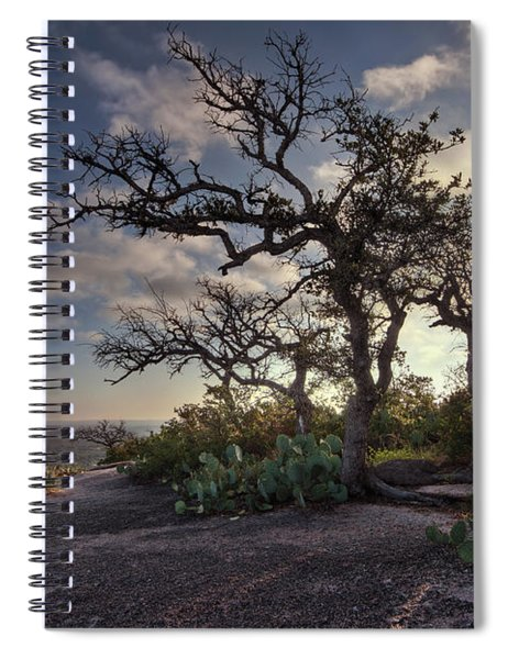 Pathway On Top Of Enchanted Rock Spiral Notebook