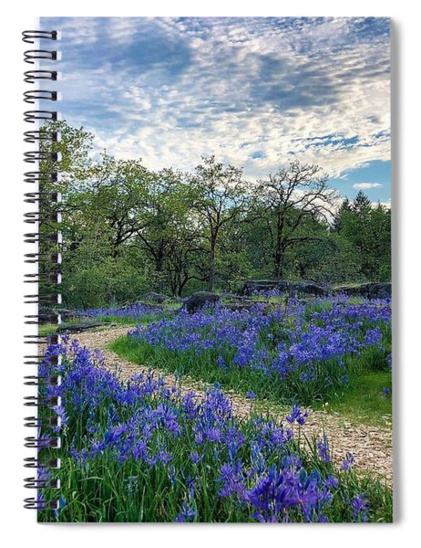 Pathway Through The Flowers Spiral Notebook