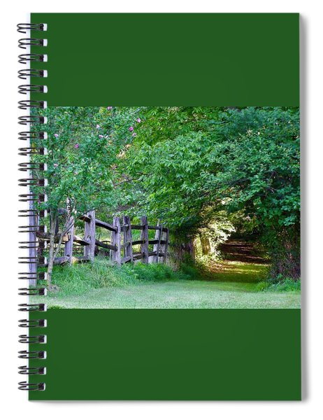 Pathway To A Sunny Summer Morning  Spiral Notebook